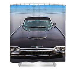 Shower Curtain featuring the photograph 63 Tbird by Keith Hawley