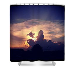 Southern Sunset. Shower Curtain