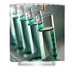 Laboratory Experiment In Science Research Lab Shower Curtain by Olivier Le Queinec