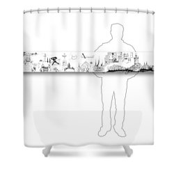 6.51.hungary-6-horizontal-with-figure Shower Curtain