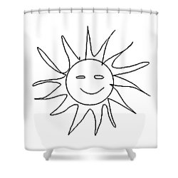 6.57.hungary-6-detail-sun-with-smile Shower Curtain