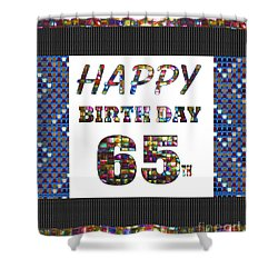 65th Happy Birthday Greeting Cards Pillows Curtains Phone Cases Tote By Navinjoshi Fineartamerica Shower Curtain