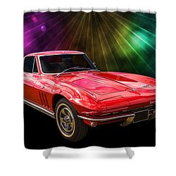 66 Corvette Shower Curtain