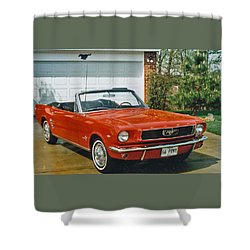 66 Mustang Convertable Shower Curtain