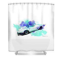 67 Vette Shower Curtain