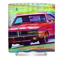 69 Dodge Charger  Shower Curtain