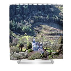 6b6312 Falcon Crest Winery Grounds Shower Curtain