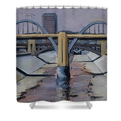 6th Street Bridge Shower Curtain by Richard Willson
