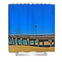 6x1 Venice Florida Beach Pier Shower Curtain