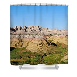 Badlands National Park South Dakota Shower Curtain by Louise Heusinkveld