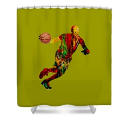 Basketball Collection Shower Curtain