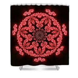 7 Beats Fractal Shower Curtain
