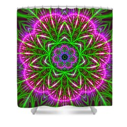Shower Curtain featuring the digital art 7 Beats Transition by Robert Thalmeier