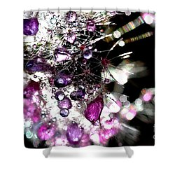 Crystal Flower Shower Curtain by Sylvie Leandre