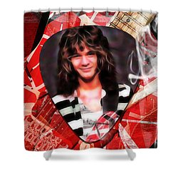 Eddie Van Halen Art Shower Curtain