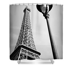 Shower Curtain featuring the photograph Eiffel Tower by Chevy Fleet