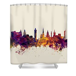Glasgow Scotland Skyline Shower Curtain
