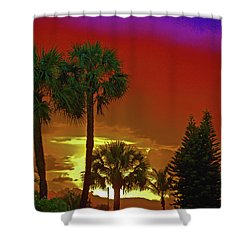 Shower Curtain featuring the digital art 7- Holiday by Joseph Keane