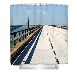 7 Mile Bridge Shower Curtain