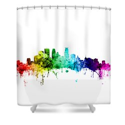 Minneapolis Minnesota Skyline Shower Curtain