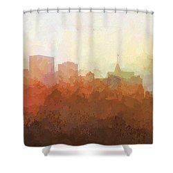 Shower Curtain featuring the digital art Oakland California Skyline by Marlene Watson