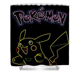 Pokemon - Pikachu Shower Curtain by Kyle West