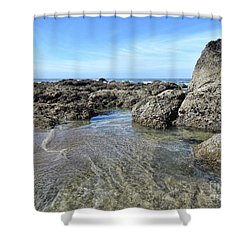 Shower Curtain featuring the photograph Roads End by Peggy Hughes
