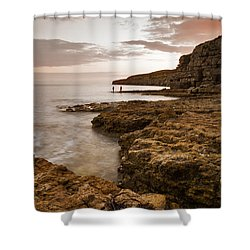 Seacombe Bay Shower Curtain