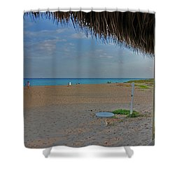 Shower Curtain featuring the photograph 7- Southern Beach by Joseph Keane