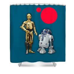 Star Wars C3po And R2d2 Collection Shower Curtain