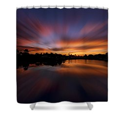 Sunrise At Naples, Florida Shower Curtain by Peter Lakomy