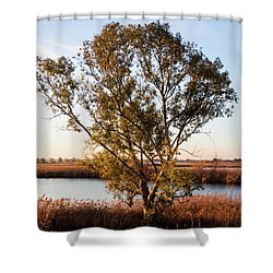 Sunrise In The Ditch Burlamacca Shower Curtain