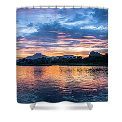 Sunrise Scenery In The Morning Shower Curtain