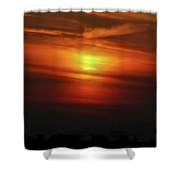 Shower Curtain featuring the photograph 7- Sunset by Joseph Keane