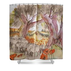 Trees Trees Trees Album Shower Curtain