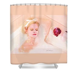 Vintage Valentine Date Shower Curtain