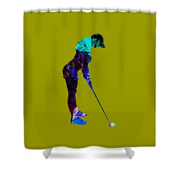 Womens Golf Collection Shower Curtain