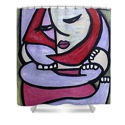 Hugs Shower Curtain by Thomas Valentine