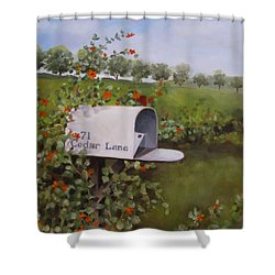71 Cedar Lane Shower Curtain by Karen Olson