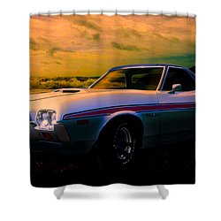 72 Ford Ranchero By The Sea Shower Curtain
