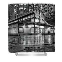 72nd Street Subway Station Bw Shower Curtain