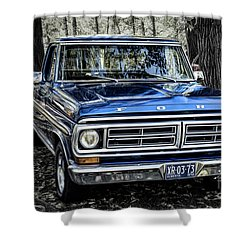 Shower Curtain featuring the photograph 73 Ford Pickup by Brad Allen Fine Art