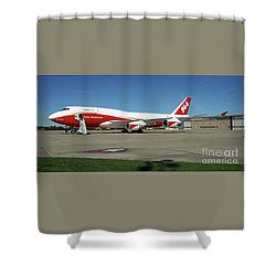 747 Supertanker Shower Curtain