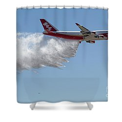 747 Supertanker Drop Shower Curtain