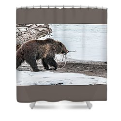 Shower Curtain featuring the photograph #760 At The River In Early Spring by Yeates Photography