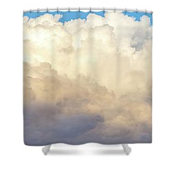 Shower Curtain featuring the photograph Clouds by Les Cunliffe