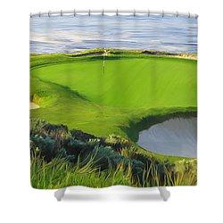 7th Hole At Pebble Beach Hol Shower Curtain