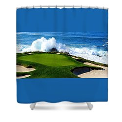 7th Hole - Pebble Beach  Shower Curtain
