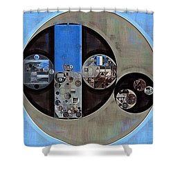 Abstract Painting - Onyx Shower Curtain
