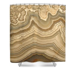 Agate Shower Curtain by Ted Kinsman